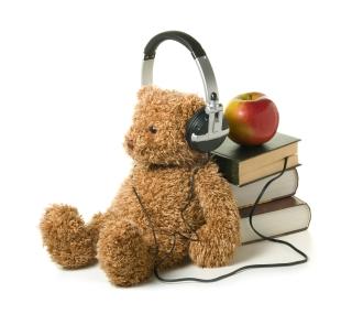 audiobook-teddybear-stock-photo
